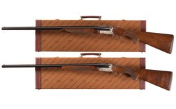 Matched Pair Winchester Model 23 Ducks Unlimited Shotguns