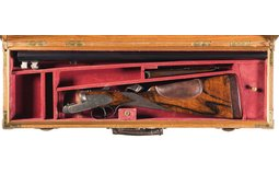 Engraved J. Purdey & Sons Double Barrel Shotgun with Case