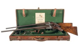 Cased Pair of Engraved Westley Richards Shotguns