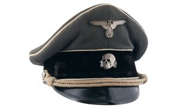 Excellent Private Purchase Waffen-SS Officer's Visor Cap