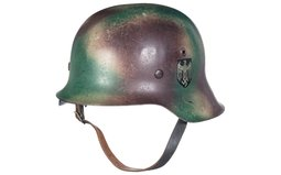 Nazi 42 Heer Decal Stahlhelm, Normandy Tri-Tone Style Camouflage