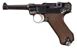 1936 Krieghoff Luftwaffe Contract Luger Pistol w/Matching Mag