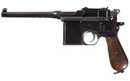 Mauser Military 7.63mm Broomhandle Pistol with Stock and Harness