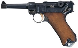 Simson & Company Luger Pistol with Extra Magazine