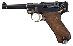 DWM Nazi 1933 Police Luger with Extra Magazines