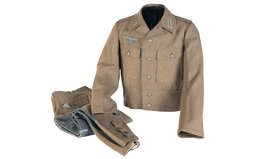 1944 Pattern Nazi Field Tunic with Breeches and Cap