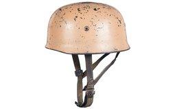 Nazi Paratrooper Helmet with Pink Khaki