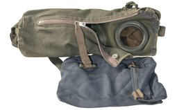 Nazi German Paratrooper Gas Mask and Carry Bag