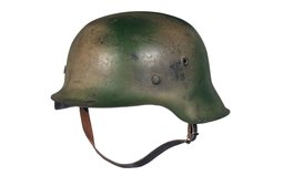 Nazi Model 42 Stahlhelm with Two Tone Tan/Green Camouflage