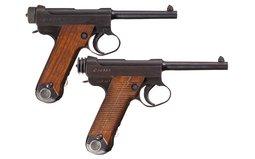 Two World War II Japanese Semi-Automatic Pistols
