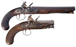 Two English Flintlock Pistols