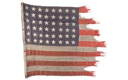 American Flag Flown at the D-Day Landings in Normandy