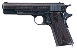 U.S. Colt Model 1911 Pistol with Extra Magazines and Pouch