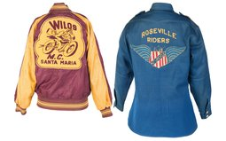 Vintage Biker Jacket and Shirt with Club Decoration