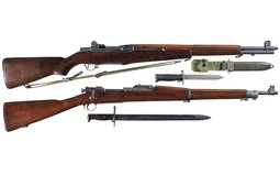 Two U.S. Springfield Military Rifles, M1 Garand/1903 Mark I