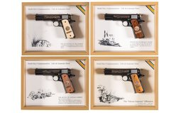 Collector's Lot of Four Matched Colt World War I Commemoratives