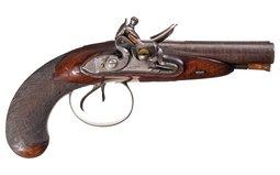 Clark Flintlock Double Barrel Pistol