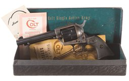 Second Generation Colt Single Action Army Revolver with Box