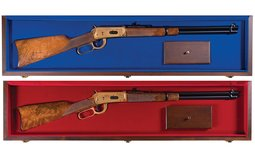 Two Cased Matching Serial Numbered Winchester Model 94