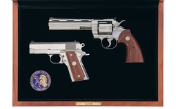 Colt Python 150th Anniversary Double Diamond Matched Two Gun Set
