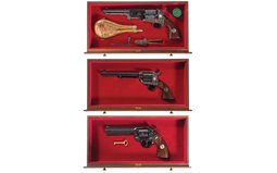 Three Cased Colt United States Commemorative Revolvers