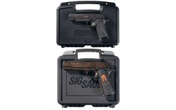 Two Semi-Automatic Pistols with Cases