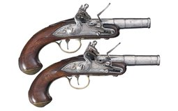 Pair of Archer Flintlock Pocket Pistols