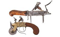 Engraved Flintlock Powder Tester and Tinder Lighter