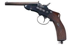 Nagant Model 1877 Gendarmerie Double Barrel Rolling Block Pistol