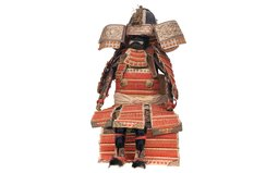 Miniature Suit of Japanese Armor, with Helmet and Case