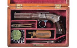 Robbins & Lawrence Cased Pepperbox