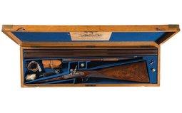Needham Patent Double Barrel Shotgun with Accessories