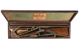Joseph Manton Double Barrel Percussion Cased and Finely Engraved
