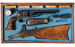 Colt 1860 Army Revolver Matching Deluxe Shoulder Stock