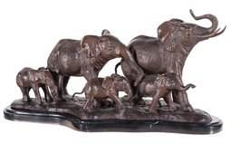 Elephant Family Bronze