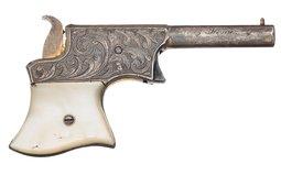 Engraved Gold Remington Vest Pocket Pistol with Pearl Grips