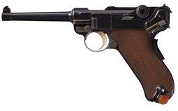 Desirable DWM 1900 Commercial Luger Semi-Automatic Pistol