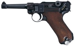 Mauser S/42 Code P.08 Luger Semi-Automatic Pistol Rig w/Mags