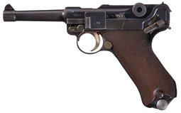 Pre-War Mauser S/42 Code 1937 Date Luger Semi-Automatic Pistol