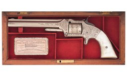 Engraved Smith & Wesson Model No. 2  Army Revolver