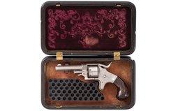 Ethan Allen Sidehammer .22 Revolver with Rare Gutta Percha Case