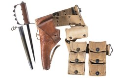 AEF Revolver Belt Rig and a 1917 Trench Knife