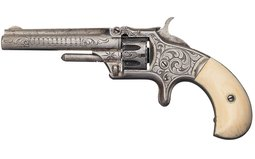 Engraved S&W Model No. 1 Revolver with Factory Letter