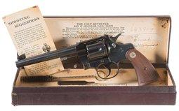 Colt Heavy Barrel Officer's Model Da Revolver with Box
