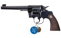 Colt Heavy Barrel Officer's Model Double Action Revolver