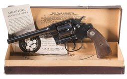 Colt New Service Double Action Revolver with Box
