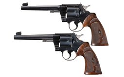Collector's Lot of Two Colt Double Action Target Revolvers