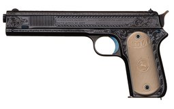 Engraved Colt Model 1902 (Sporting) Semi-Automatic Pistol