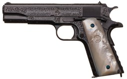 U.S. 1911 Pistol, Engraved & Silver Inlaid for a 4-Star General