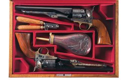 Two Cased Colt Black Powder Series Model 1860 Army Revolvers